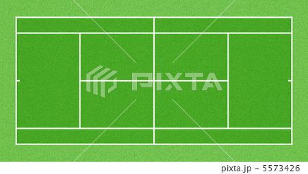 テニスコート人工芝 7のイラスト素材 5573426 Pixta