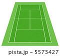 テニス場 庭球場 テニスのイラスト 5573427