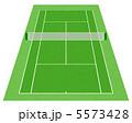 テニス場 庭球場 テニスのイラスト 5573428