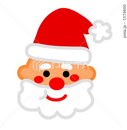 サンタさんの顔のイラスト素材 5579600 Pixta