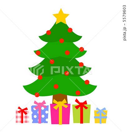 もみの木とプレゼントのイラスト素材 5579603 Pixta