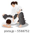 合気道 護身術 関節技のイラスト 5588752