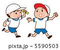 リレー 子供 運動会のイラスト 5590503
