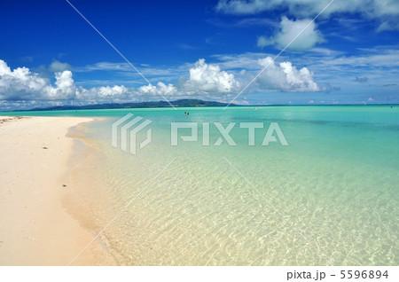 竹富島 コンドイビーチの風景 5596894