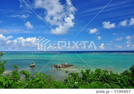 石垣島 海岸線からの海 5596897