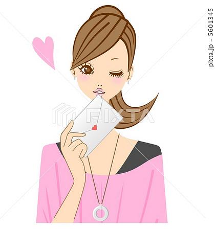 手紙 ラブレター 女性 5601345