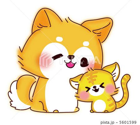 猫と犬のイラスト素材 5601599 Pixta
