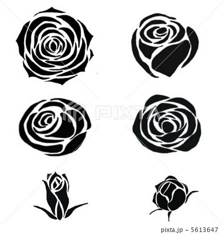 薔薇の素材のイラスト素材 5613647 Pixta