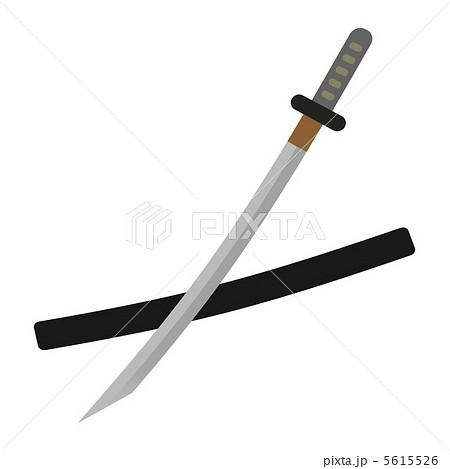 日本刀のイラスト素材 5615526 Pixta