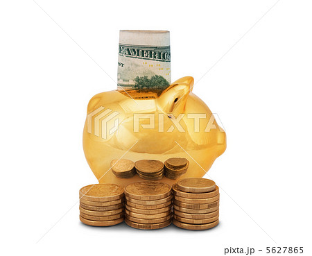 golden piggy bankの写真素材 [5627865] - PIXTA