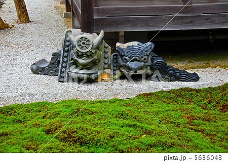 南禅寺の庭にある鬼瓦(南禅寺/京都市左京区南禅寺福地町) 5636043