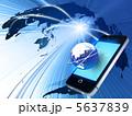 ネットワーク スマートフォン スマホのイラスト 5637839