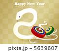 白ヘビ 白蛇 巳のイラスト 5639607