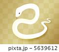 白蛇 白ヘビ 巳のイラスト 5639612