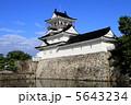 富山城 模擬天守 水堀の写真 5643234