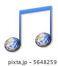 音譜 地球 音符のイラスト 5648259