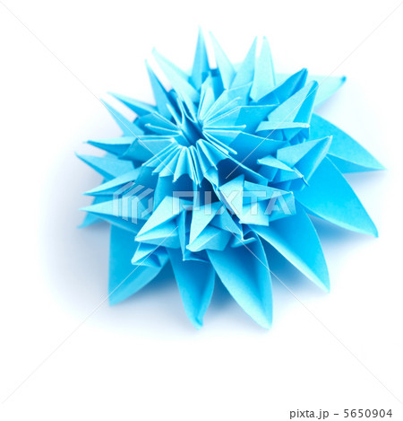 Origami blue snowflakeの写真素材 [5650904] - PIXTA