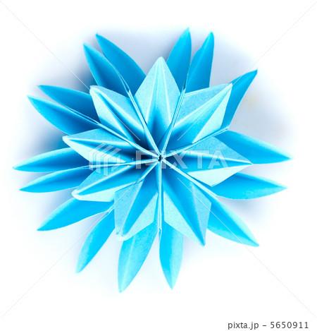 Origami blue snowflakeの写真素材 [5650911] - PIXTA