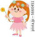 妖精 花を持つ 女の子 イラスト 5660451