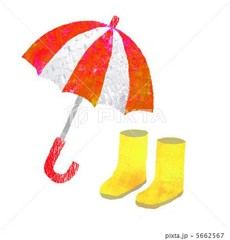 長靴 子供 長靴 サイズ : 雨具のイラスト素材 [5662567 ...