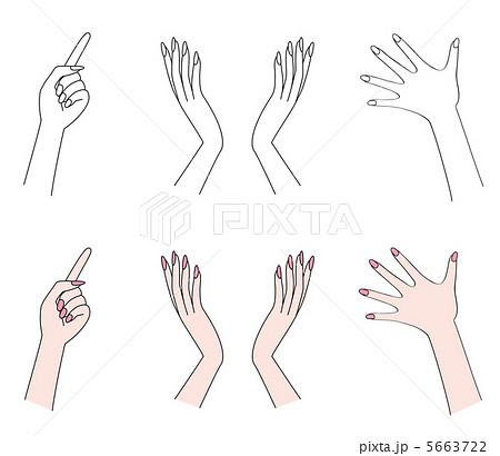 手の表情のイラスト素材 5663722 Pixta
