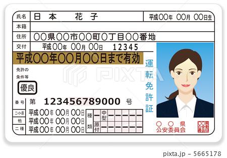 自転車の 自動車運転免許証取得 : 日本の運転免許証(ゴールド)