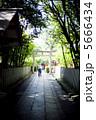 神社と参拝に向かう老人 5666434