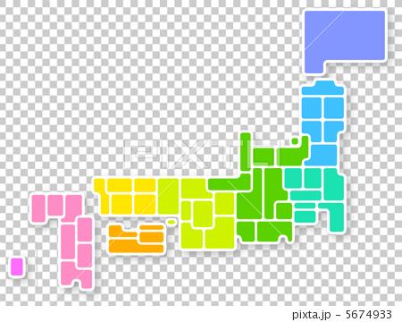 日本地図 5674933