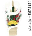 白蛇 白ヘビ 巳のイラスト 5678124