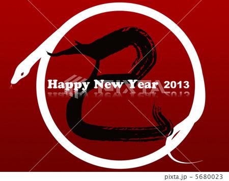 白蛇年賀状2013年 5680023