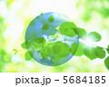 地球儀 葉っぱ 葉のイラスト 5684185