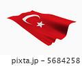 トルコ共和国 国旗 旗のイラスト 5684258
