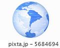 南アメリカ グローバル 地球儀のイラスト 5684694