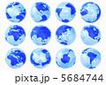 世界地図 地球儀 地図のイラスト 5684744