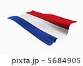 オランダ王国 オランダ 国旗のイラスト 5684905