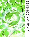 地球儀 葉っぱ 葉のイラスト 5684988