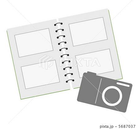 フォトアルバムのイラスト素材 5687037 Pixta