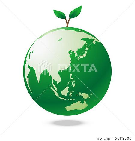 イラスト素材: 地球エコロジー