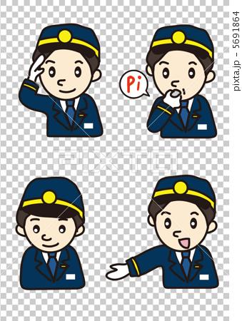 車站值班員 矢量 男人 5691864