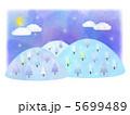 冬山 雪山 月夜のイラスト 5699489