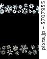 雪の結晶 切り絵 黒背景 5707955