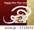 白ヘビ 白蛇 破魔矢のイラスト 5719593