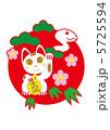 招き猫 招きねこ 置物のイラスト 5725594