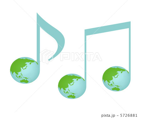 地球柄の音符 5726881