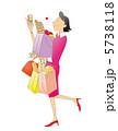 OL 買物 女性のイラスト 5738118