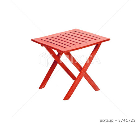 modern red table isolated on white backgroundの写真素材 [5741725] - PIXTA
