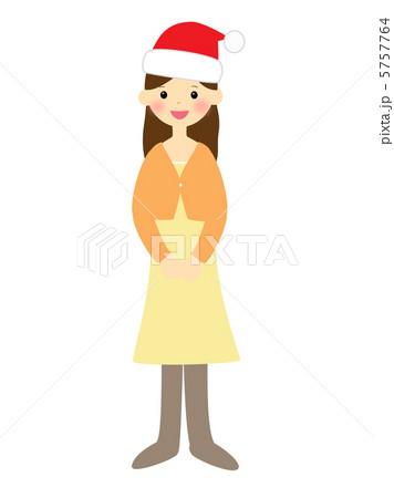 サンタ帽をかぶった女性 5757764