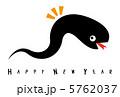黒い蛇(年賀素材) 5762037