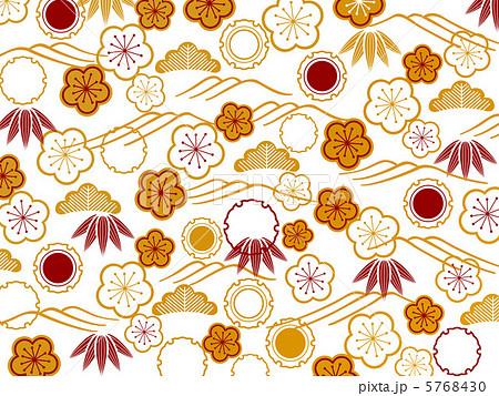 松竹梅_波和柄のイラスト素材 ... : 正月 福笑い : すべての講義