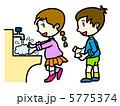 手洗い こども 風邪予防のイラスト 5775374